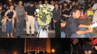 Lilin Duka Cita untuk Poso di Bundaran HI Jakarta