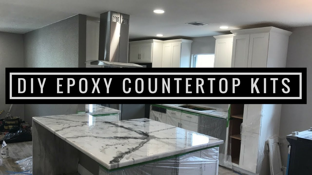 diy tutorial step countertops kitchen by countertop dry let a concrete resurfacing