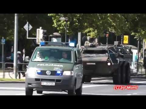 [SELTEN] 3x Feldjäger + Kolonne Bundeswehr auf Einsatzfahrt (Dresden Hochwasser 2013) (HD)