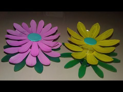 DIY craft | plastic bottle flower craft | How to make plastic bottle flower craft | flower craft