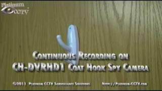 Ch-dvrhd1 - Continuous Recording - Coat Hook Spy Camera