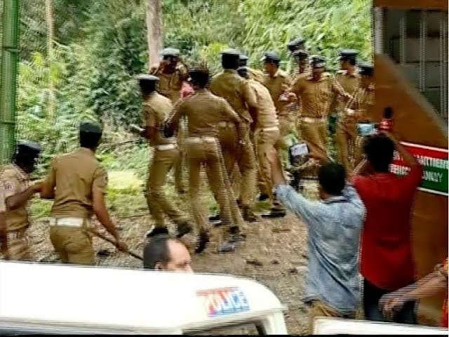Again Lathi-Charge at Nilakkal