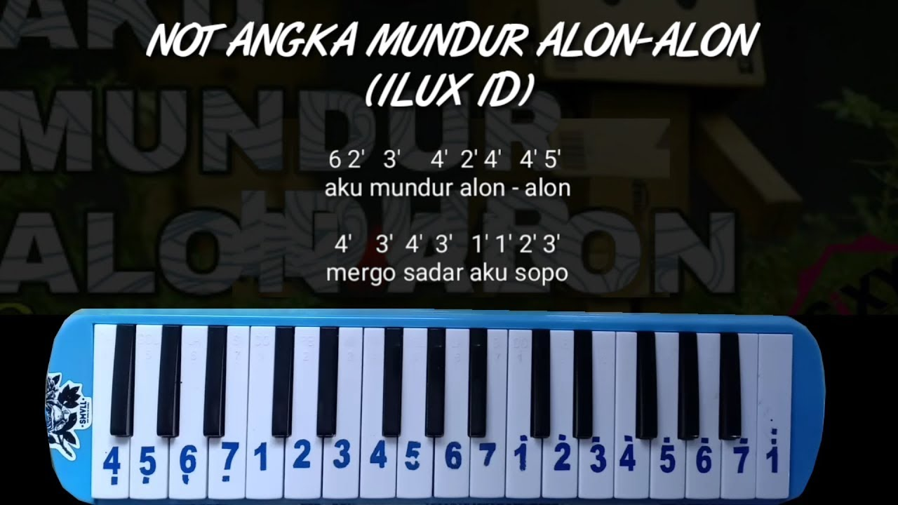 Not Pianika Mundur Alon Alon Ilux Id Youtube