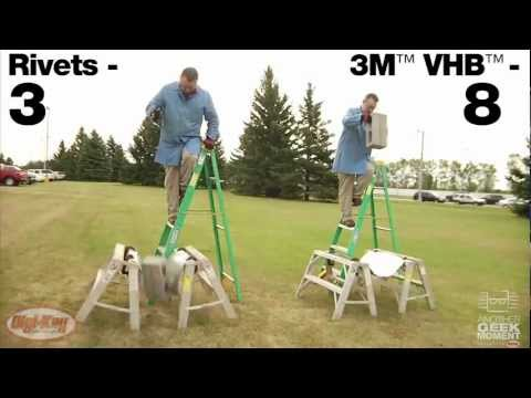 3M VHB adhesive demonstration holds up man -- Another Geek Moment