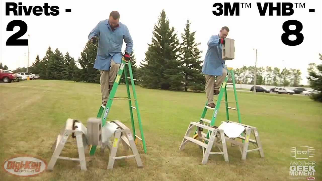 3m Vhb Adhesive Demonstration Holds Up Man Another Geek