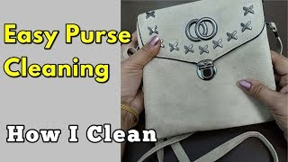 How to clean leather purse at home / Easy Purse Cleaning – Demo / Monikazz DIY