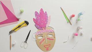 видео Как сделать маскарадную маску
