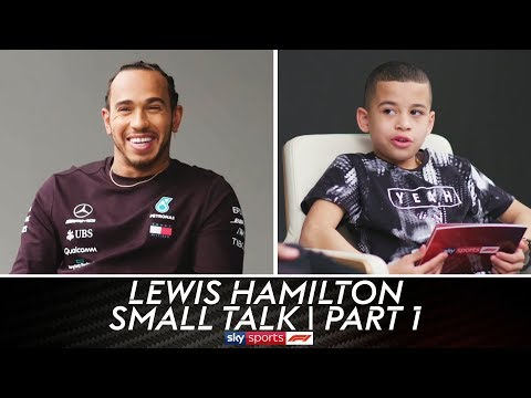 """You sound a bit American!"" | Lewis Hamilton | Small Talk | Part 1"