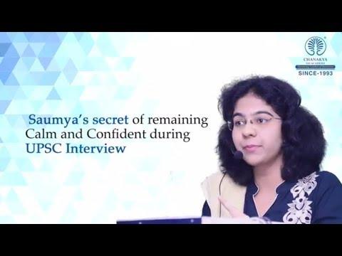 Saumya Pandey (AIR 4 CSE 2016) Mock Interview with Chanakya's Experts