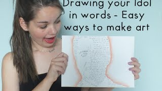 Draw your idol in words - Easy ways to make art | LittleMo