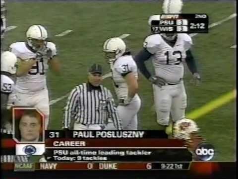 Paul Posluszny Penn State Highlights - LBU