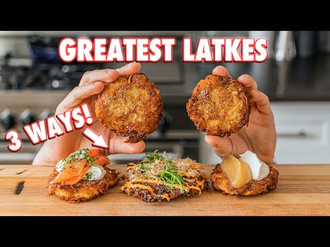 The Crunchiest Homemade Latkes (3 Ways) - Joshua Weissman