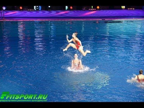 10-е Шоу Олимпийских Чемпионов по синхронному плаванию. Солирует Александра Попова. МГФСО 20/12/2013