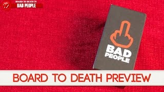 18+ Explicit Content - BAD PEOPLE Card Game Preview