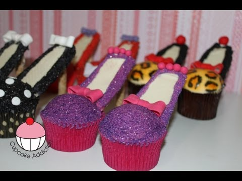 Get Stiletto Cupcakes! Decorate High Heel Shoe Cupcakes - A Cupcake Addiction How To Tutorial Pics