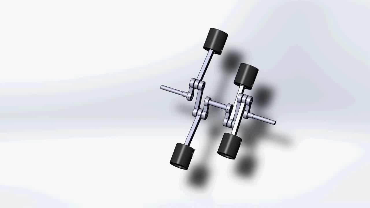 Схема работы оппозитного двигателя.