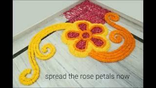 Home Decor Ideas : How to make rangoli with flowers?