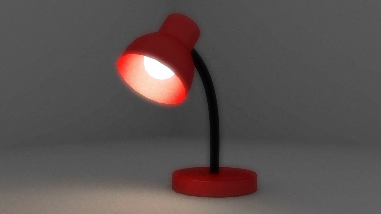 Modelado de una lampara de escritorio blender proceso - Como hacer una lampara de mesa casera ...