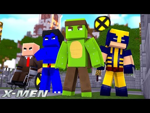 X-MEN #1 - JOINING THE XMEN SCHOOL!  (Custom Mod Adventure)