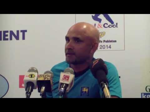 Marvan Atapattu addresses the media - Pakistan tour of Sri Lanka 2014