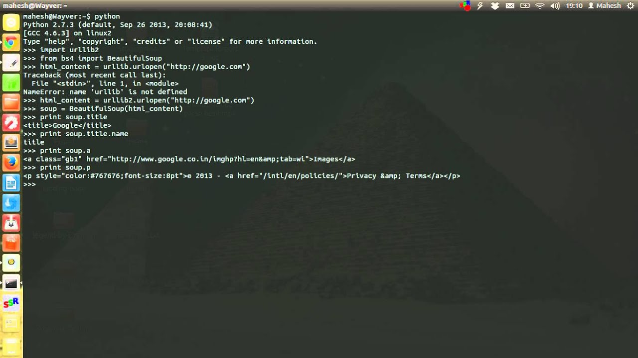 Parse HTML Page using BeautifulSoup Python