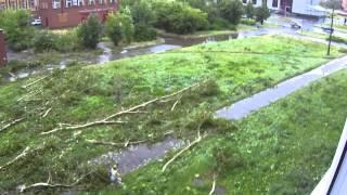 Последствия урагана. Глазов