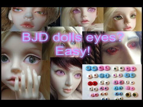 Making eyes for BJD dolls is easy. 2 options: UV gel or clay and paper - show how