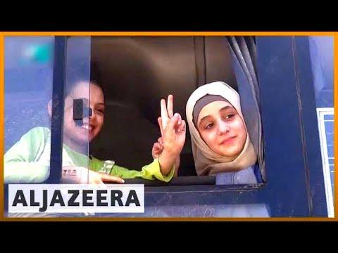🇸🇾 'Biggest' evacuation sees more than 6,700 people leave Syria's Ghouta   Al Jazeera English