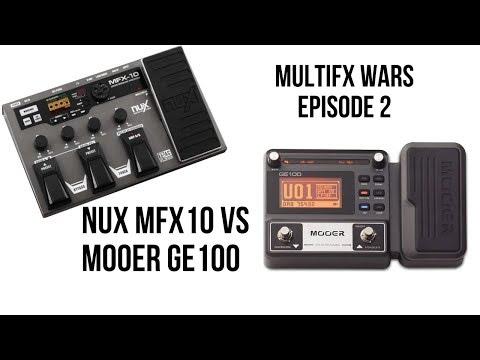 NUX MFX10 Vs MOOER GE100 - MULTIFX WARS