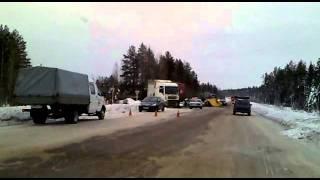 Газель в клочья. Авария на трассе Ухта-Сыктывкар