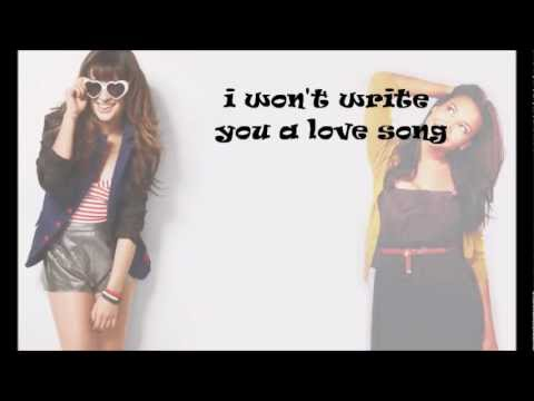 Glee Cast- Love Song (With Lyrics!)