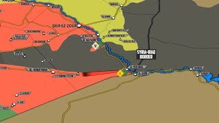 13 ноября 2017. Военная обстановка в Сирии. Контратака ИГИЛ у границы с Ираком, угрозы Израиля Ирану