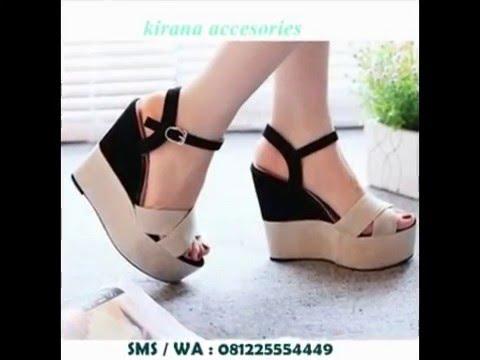 Jual Sepatu  Sandal Wedges Wanita Cantik Terbaru Online  081225554449