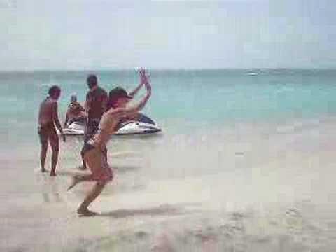 me tumbling in Antigua