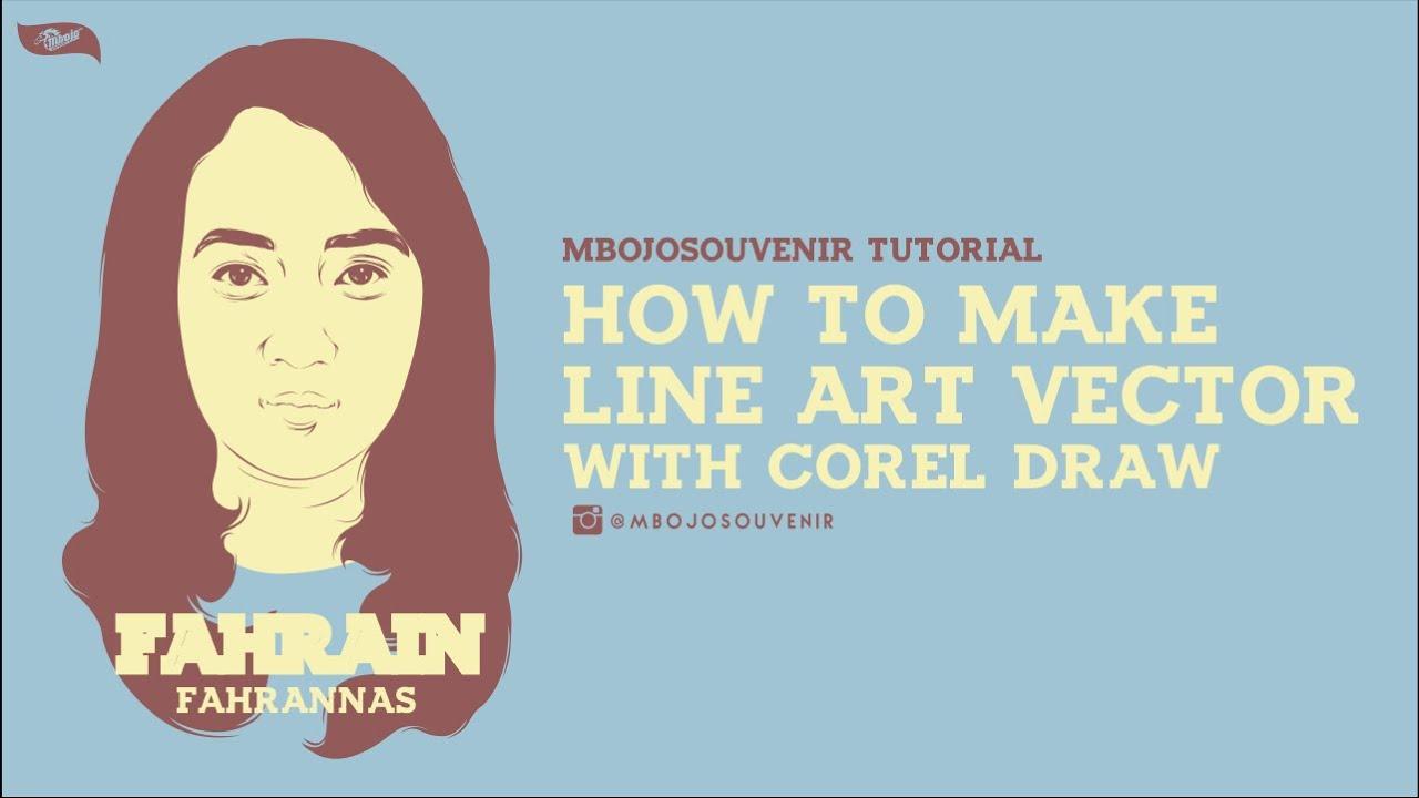 Poster design using coreldraw tutorial - How To Make Line Art Vector Using Corel Draw X7