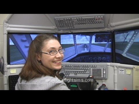 diy triple screen flight simulator youtube