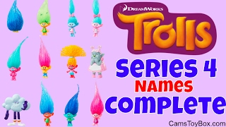 Dreamworks Trolls Series 4 Names Blind Bags Toy Review Complete Collection Characters