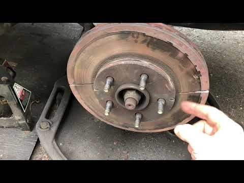 Rusted Brake Rotor Removal