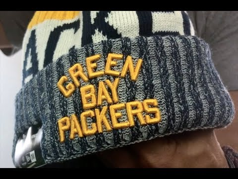 Packers '2017 THROWBACK STADIUM BEANIE' Navy Knit Hat by New Era