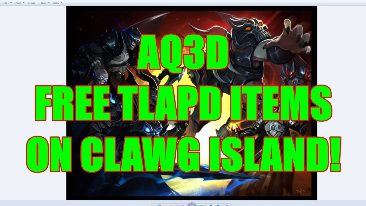 AQ3D FREE TLAPD Items On Clawg Island! AdventureQuest 3D