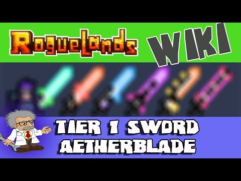 ROGUELANDS WIKI - AETHERBLADE Sword | Roguelands Tutorial | How to Craft Tier 1 Sword - Aetherblade