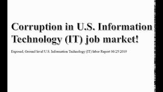 Exposed Ground level U S  Information Technology IT labor Report 06252019