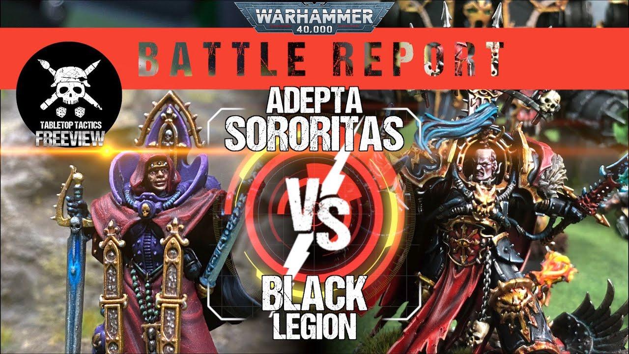 Warhammer 40,000 Battle Report: Adepta Sororitas vs Black Legion 2000pts