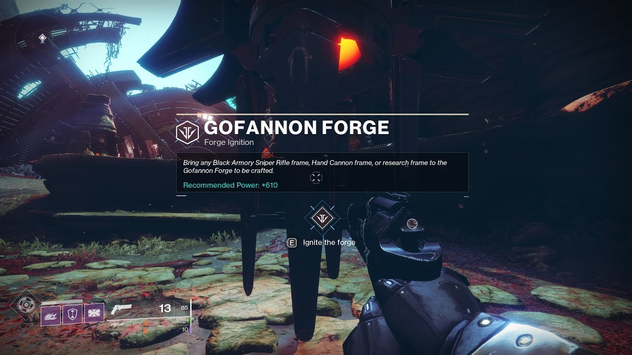 Gofannon Forge Completion (Nessus) [Destiny 2 Black Armory] - YouTube