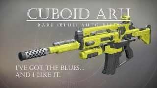 Destiny 2 - Cuboid ARU - Sweet Blue Auto Rifle - PVP Gameplay Review