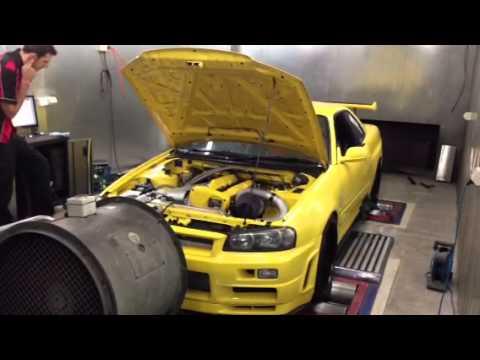 Mercury Motorsport 1000hp GTR R34 power run on Croydon Racing Developments dyno