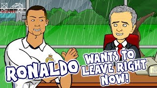 RONALDO to MAN UTD?! (CR7 wants to leave Real Madrid Right Now - Transfer Song Parody)