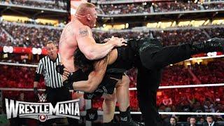WWE Wrestlemania 31 Brock Lesnar vs Roman Reigns Match Highlights HD
