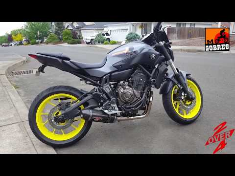 test yamaha mt 07 with arrow exhaust short accelera. Black Bedroom Furniture Sets. Home Design Ideas