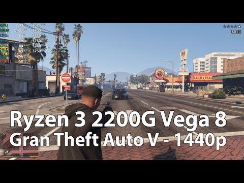 AMD Ryzen 3 2200G Grand Theft Auto V in 1440p - Overclocked APU (GTA V) thumbnail